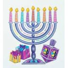 Large Hanukkah Glitter Window Static Cling