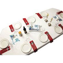 Shabbat Tablecloth with Challah Cover - 62'' x 118''