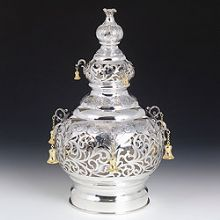 Sterling Silver Torah Crown - Trapuree