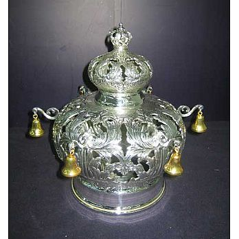 Sterling Silver Torah Crown - Baruk