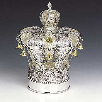Sterling Silver Torah Crown - Magen David