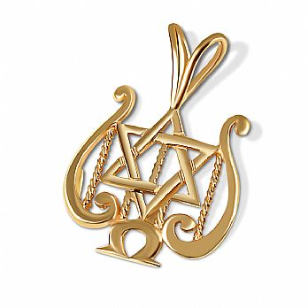 14K Gold Star of David - David's Harp