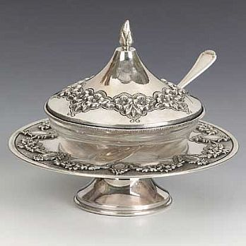Sterling Silver Honey Dish - Chentruza