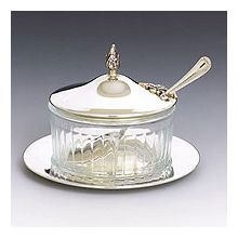 Sterling Silver Honey Dish - Smooth