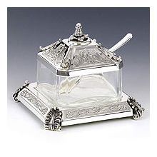 Sterling Silver Honey Dish - Bagetel