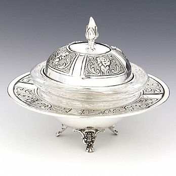 Sterling Silver Honey Dish - Margarette