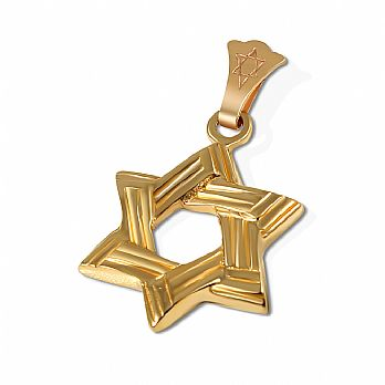 14K Gold Classic Star of David