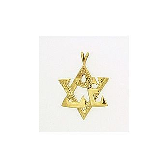 14K Gold Love Star Pendant