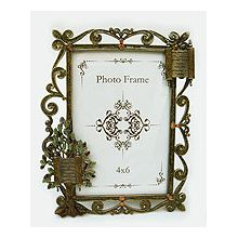 Jeweled Amber Tree of Life Picture Frame