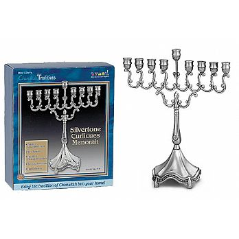 Small Traditional Silverplated Candle Menorah
