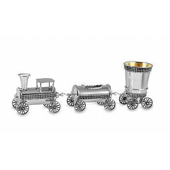 Sterling Silver Functional Havdallah Train Set