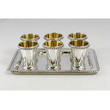 Sterling Silver L'Chaim Set (liquor set)