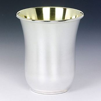 Sterling Silver Kiddush Cup - Antique