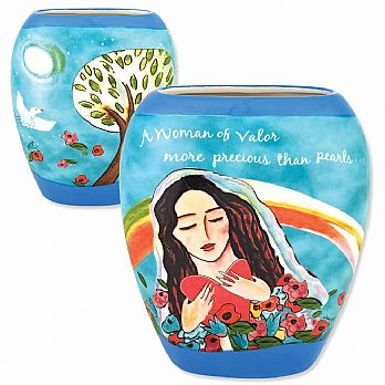 Ceramic Woman of Valor Flower Vase