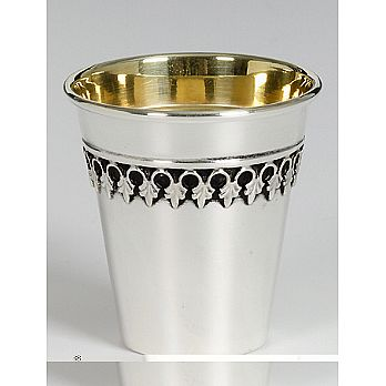 Sterling Silver Lechaim Cups - Filigree