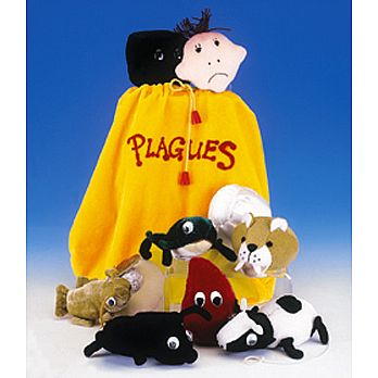 10 Plague Set of Plush Toys and Sack