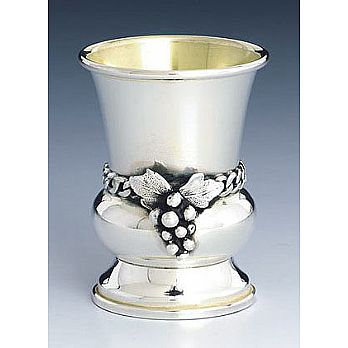 Sterling Silver Lechaim Cups - Grapes