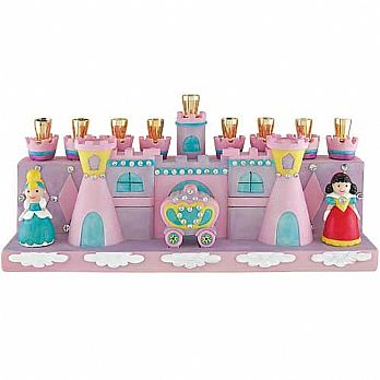 Durable Resin Princess and Castle Menorah