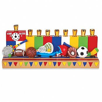Poly Resin Assorted Sports Menorah