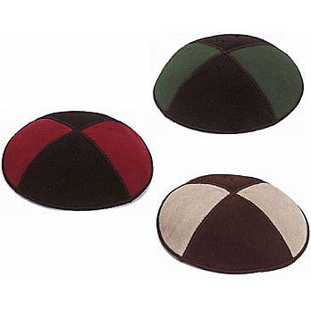 Popular Two Color Suede Kippahs