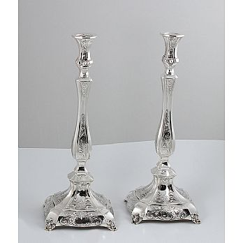 Sterling Silver Large Candle Stick - Le Elegante