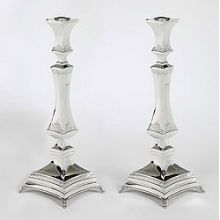 Sterling Silver Candlestick Set - Oblisique