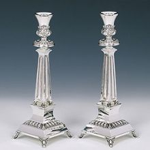 Sterling Silver Candlestick Set - Supra Medium