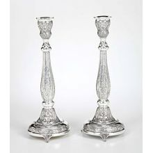 Sterling Silver Candlestick Set - Arezo