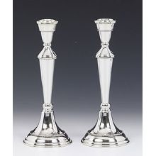 Sterling Silver Candlestick Set - Beads