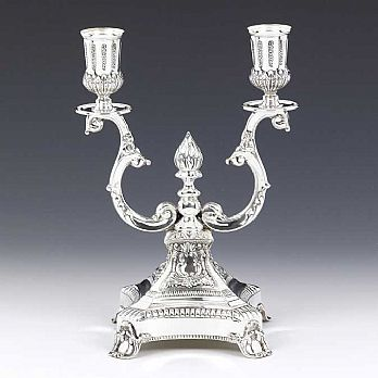 Sterling Silver Oil Candelabra