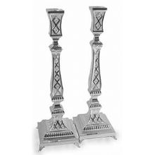 Sterling Silver Candlestick set - Diamond Cut