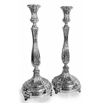 Sterling Silver Candlestick Set - Royalty 15'' Tall