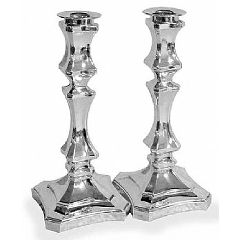 Sterling Silver Candlestick Set - Italian Fountain 6.75''