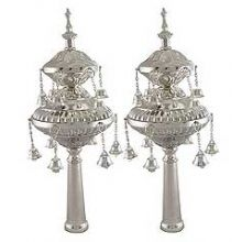 Silver Plated Torah Ornaments (Rimonim)