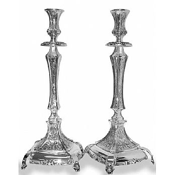 Sterling Silver Candlestick Set -   Majestic 14 1/2''