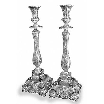 Sterling Silver Candlestick Set -  Palermo Ornate 15.75''