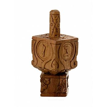 Ornamented Wooden Dreidel from Bali