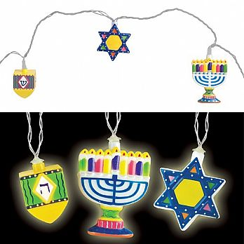 Hanukkah String Light Set Battery Operated