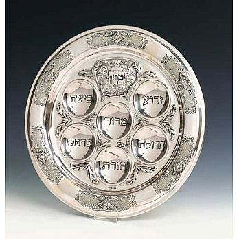 Sterling Silver Seder Plate - Smooth