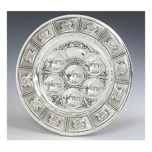 Sterling Silver Seder Plate - 12 Tribes