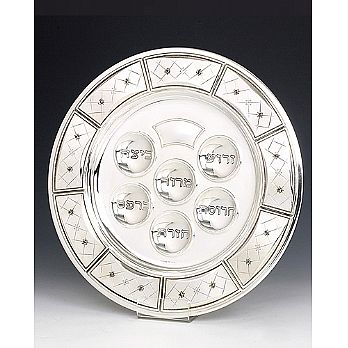 Sterling Silver Seder Plate - Chentoroza