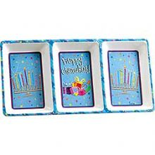Melamine 3-Section Hanukkah Tray