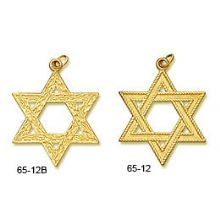 14K Gold X-Large Classic Stars of David