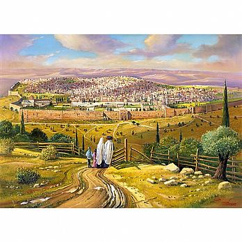 1000 Piece Jewish Puzzle - Jerusalem On Shabbat
