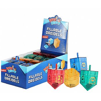 Fillable Dreidels of 2 parts - 24 Pack
