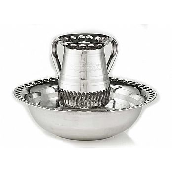 Aluminum Wash Cup with Matching Bowl - Medium
