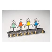 Art Glass & Metal Menorah - Playground Girls