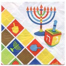 Hanukkah Illumination Lunch Napkin 40 Pack