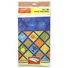 Hanukkah Illumination Plastic Table Cover 54x96