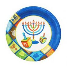 Hanukkah 7'' Illumination Paper Plates 36 Count
